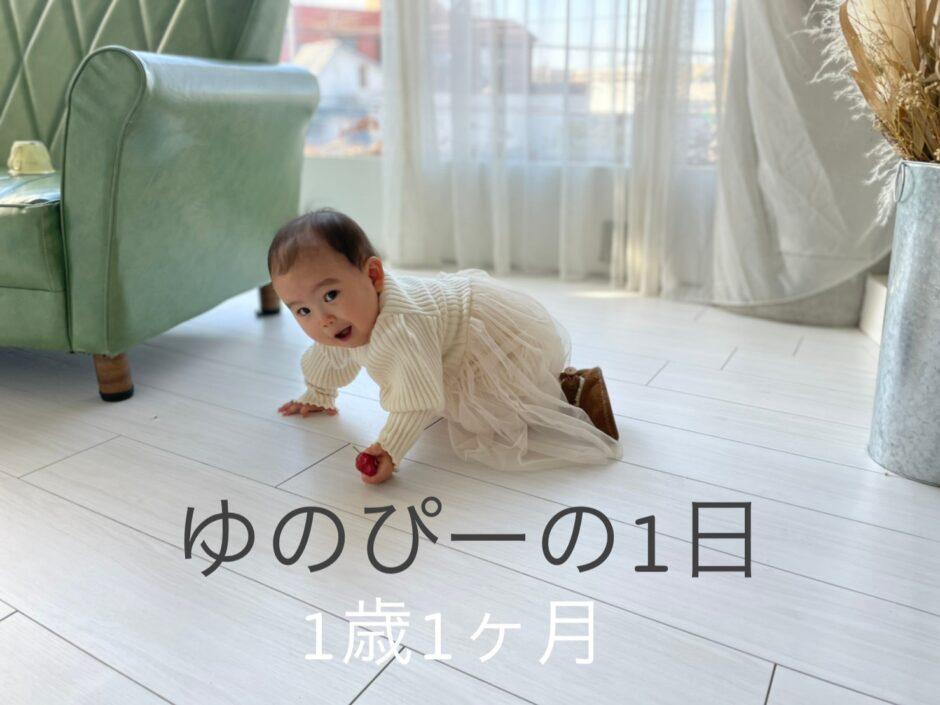 生後1歳1ヶ月(13ヶ月)のスケジュールと1日の過ごし方!娘の成長記録